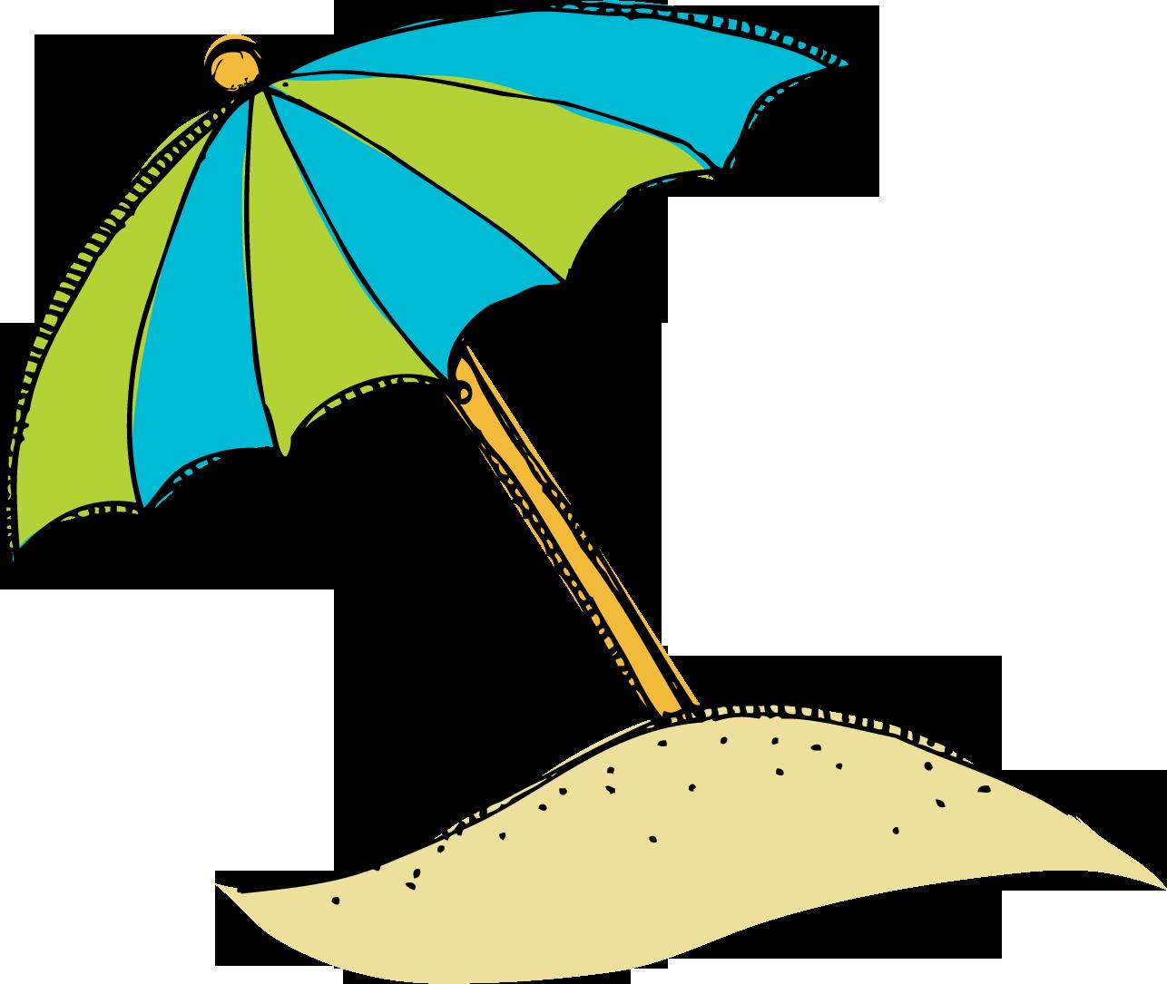 Beach clip art cartoon. Clipart umbrella coloring page