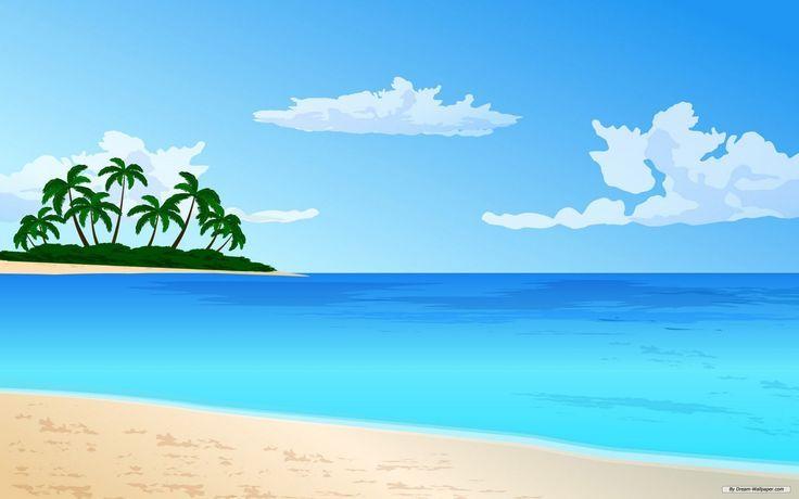 Beach clipart cartoon. Image result for scene