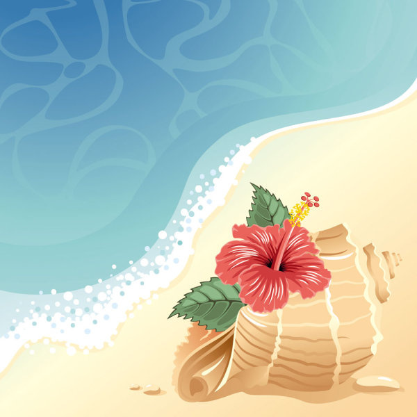 Beach clipart cartoon. Free vector download for