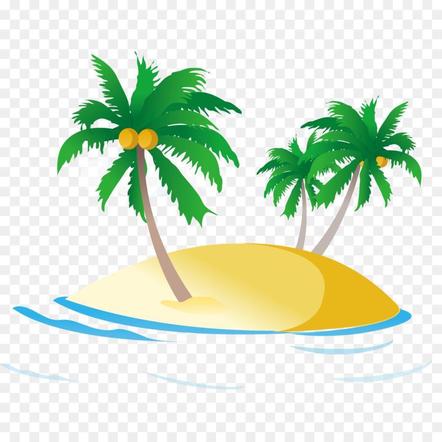 Beach clipart coconut tree. Group sea ocean royaltyfree