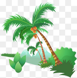 Beach clipart coconut tree. Green trees png images