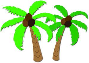 Palm trees image coconut. Hawaii clipart tree hawaiian