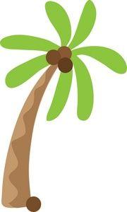 Beach clipart coconut tree. Hawaiian palm trees clip