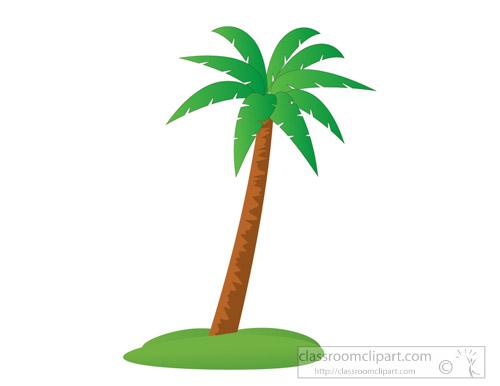 beach clipart coconut tree