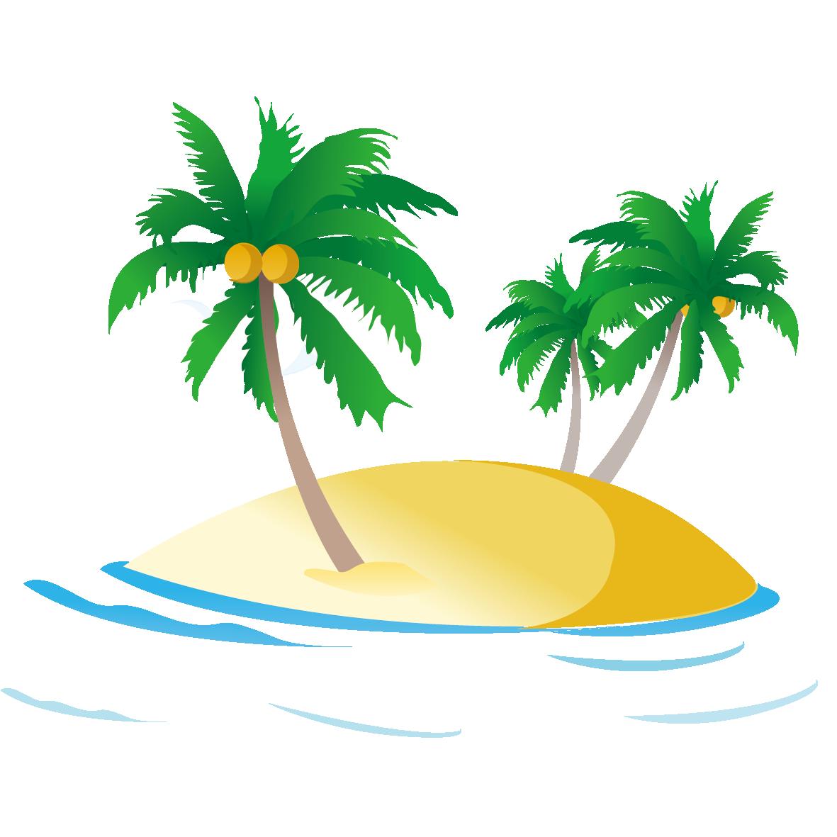Tree clipart beach. Sea ocean royalty free
