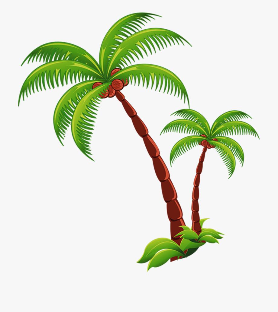 Computer file transparent . Beach clipart coconut tree