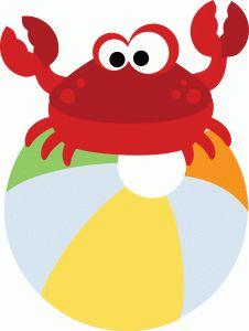 Pin by kaysha on. Beach clipart crab