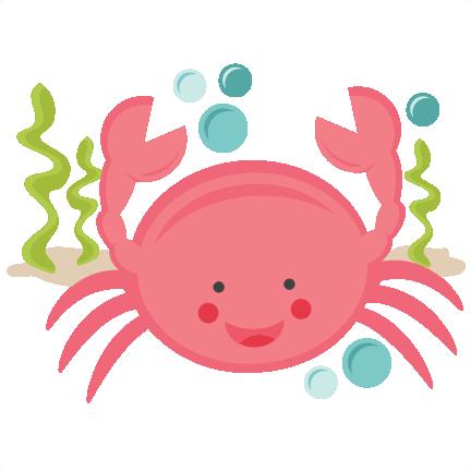 Free pink crab cliparts. Crabs clipart cute
