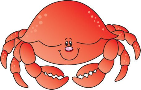 Figuras del oc ano. Beach clipart crab