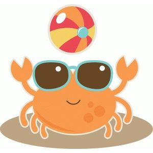 crab at beach. Crabs clipart summer