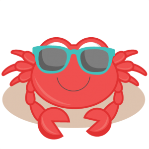 Crab clipart beach. Ocean miss kate cuttables