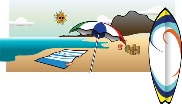 Beach clipart drawing. Umbrella at getdrawings com