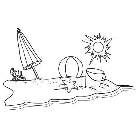 Beach clipart drawing. Black and white furniture