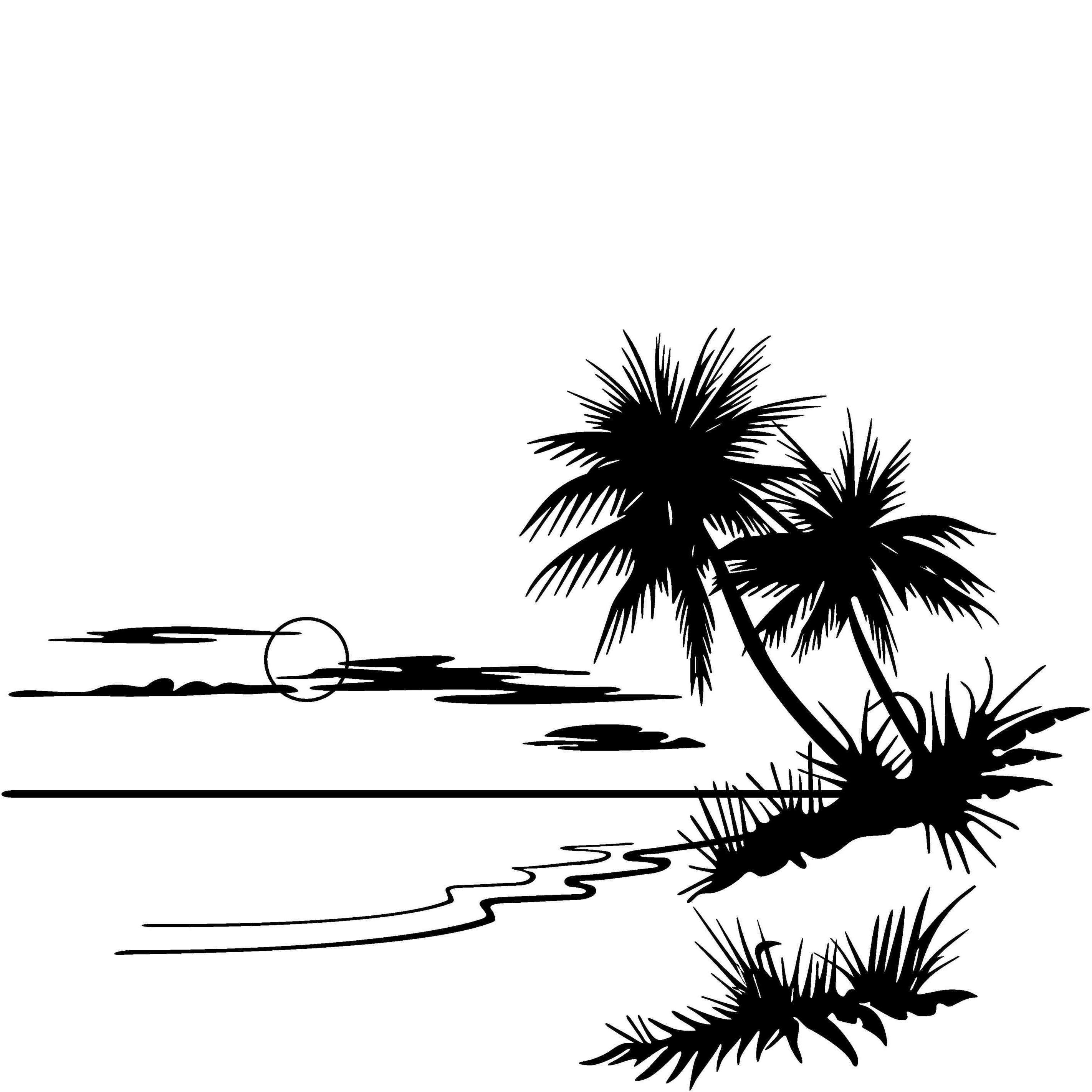 Beach clipart drawing.  collection of black
