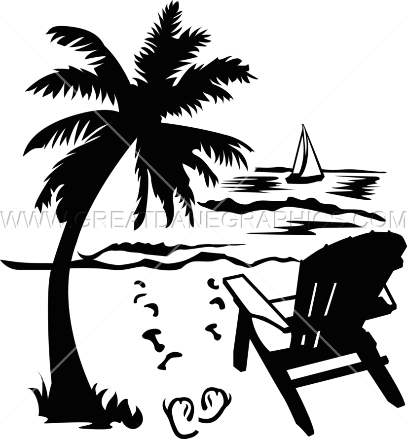 Beach clipart drawing. Palm tree at getdrawings