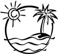 For kids google search. Beach clipart drawing