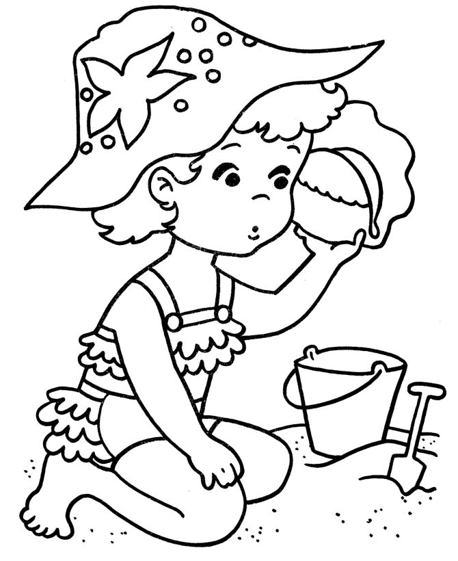 Beach clipart drawing. Scene at getdrawings com