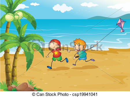 collection of side. Beach clipart drawing