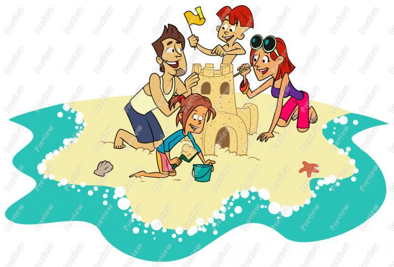Beach clipart family. At