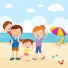 Clipartuse. Beach clipart family
