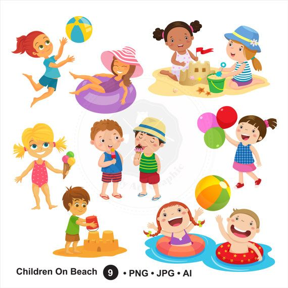 best images on. Beach clipart family