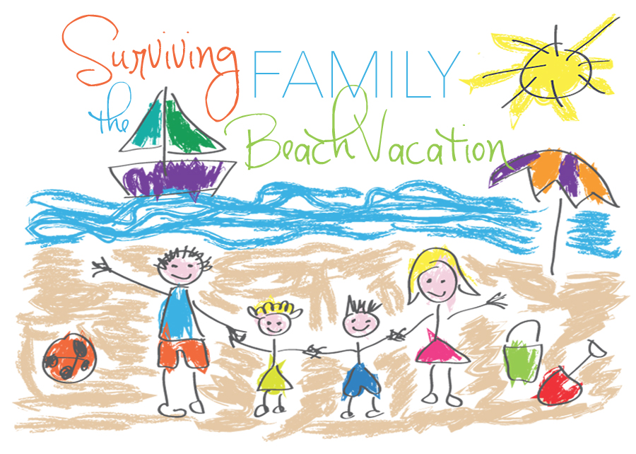 Beach clipart family. Surviving the vacation