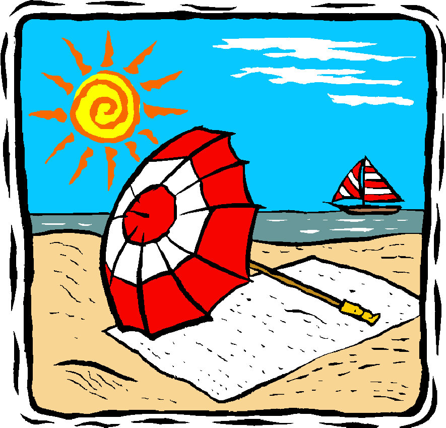 Free cartoon picture download. Beach clipart family