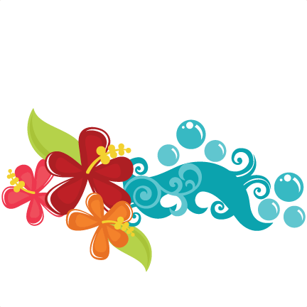 Tropical flowers pinterest svg. Beach clipart flower