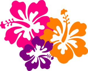 best hawaiian images. Beach clipart flower