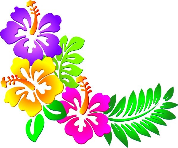 Beach clipart flower. Tropical flowers free cliparts