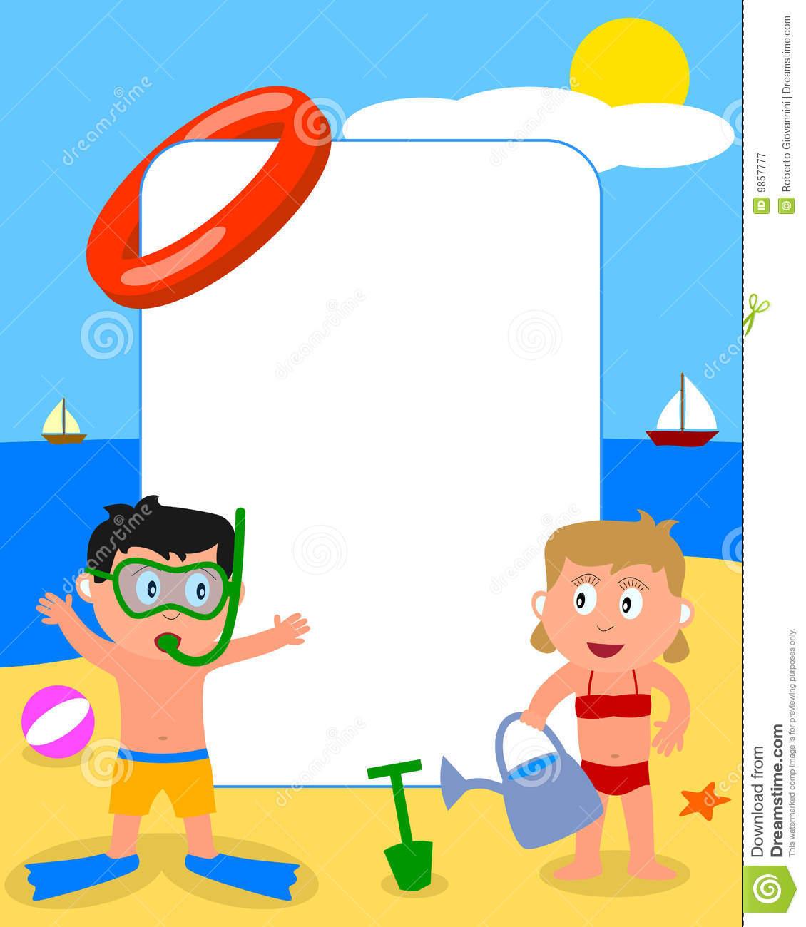 Snazzy flip flops then. Beach clipart frame