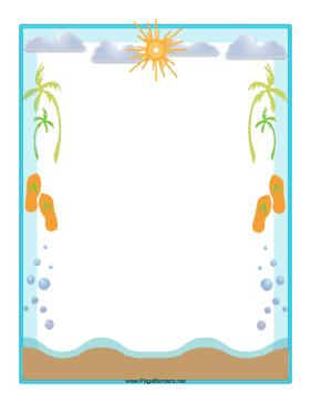 beach clipart frame