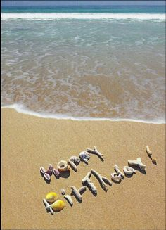 . Beach clipart happy birthday