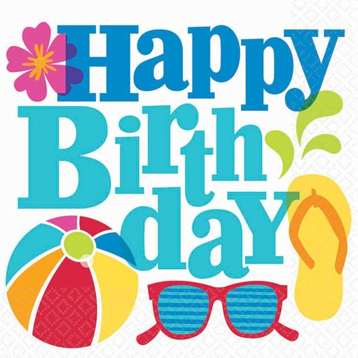 best images on. Beach clipart happy birthday