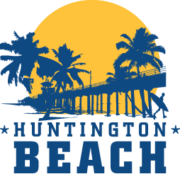 Huntington sun protection foam. Beach clipart logo
