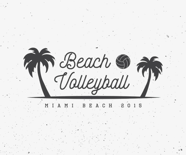 Beach clipart logo. Palm volleyball png image