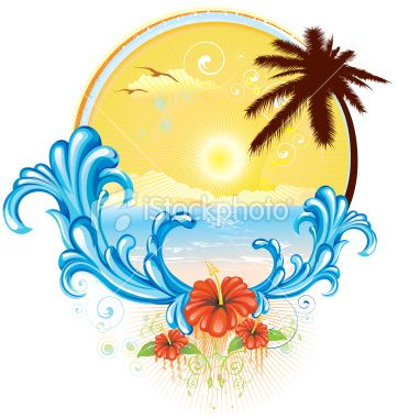 best tropical t. Beach clipart logo
