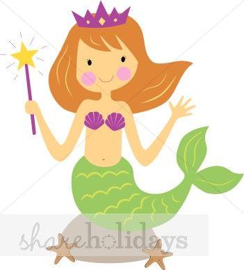 Free clip art party. Beach clipart mermaid