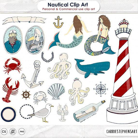 Beach clipart mermaid. Sailor illustration nautical image