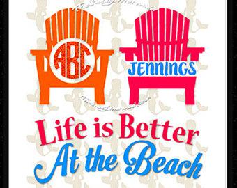 Beach clipart monogram. Chair etsy svg summer