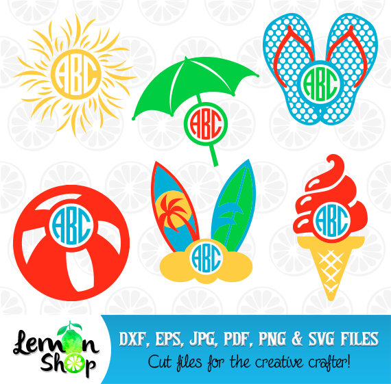 Beach clipart monogram, Beach monogram Transparent FREE for