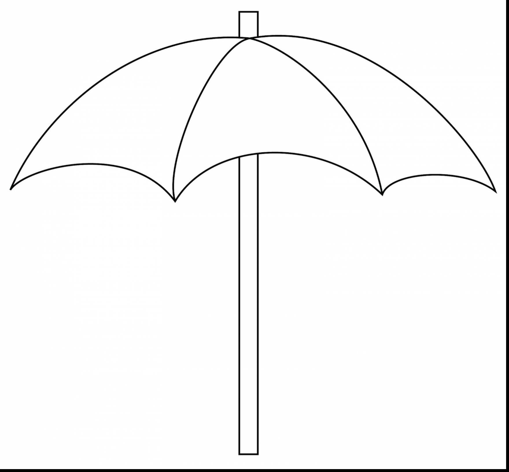 Umbrella black and white. Beach clipart outline