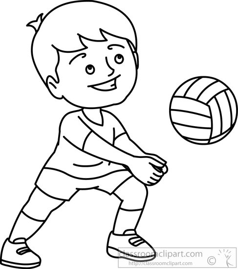 Boys clipart outline. Beach black and white