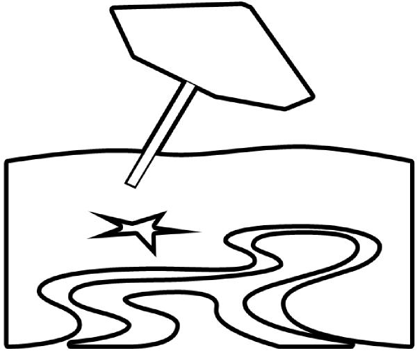 Beach clipart outline. Clip art at clker
