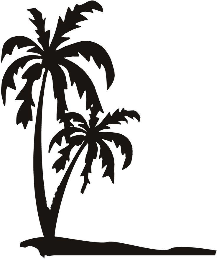 ed a eff. Beach clipart palm tree