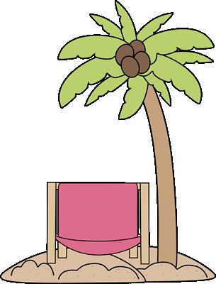 And chair clip art. Beach clipart palm tree