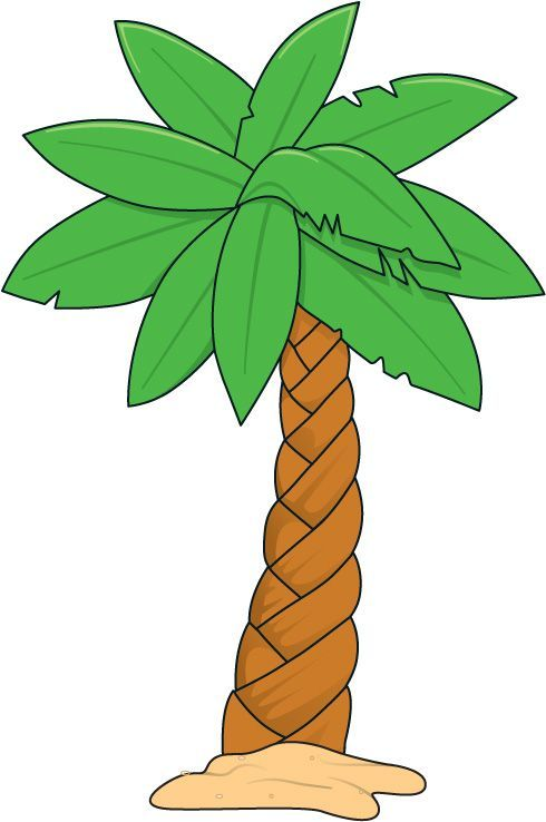 Hawaiian free printable trees. Beach clipart palm tree