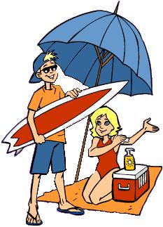 beach clipart person