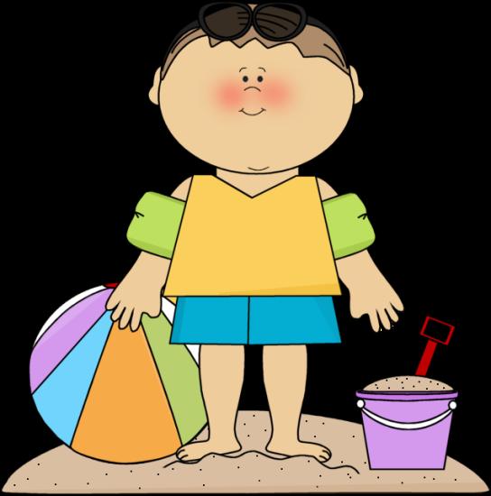 Summer little boy on. Beach clipart person