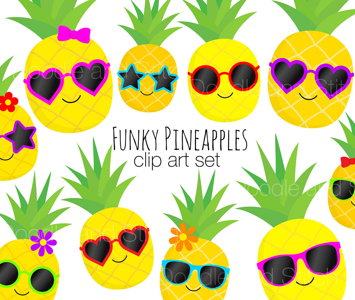 Clip art pictures pineapples. Boarder clipart pineapple
